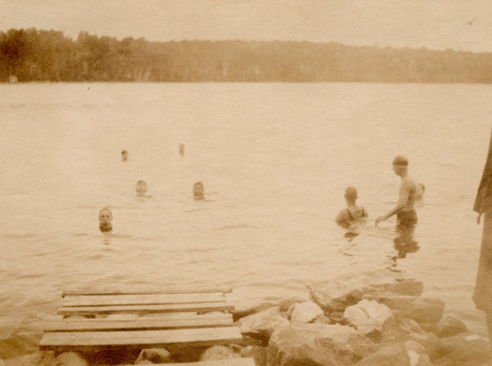 Scouts Swimming at Workcoeman (late 1920s)