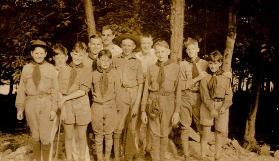 Troop 2 Scouts at Camp (mid 1930s)