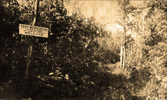 Camp Workcoeman Entrance in 1924