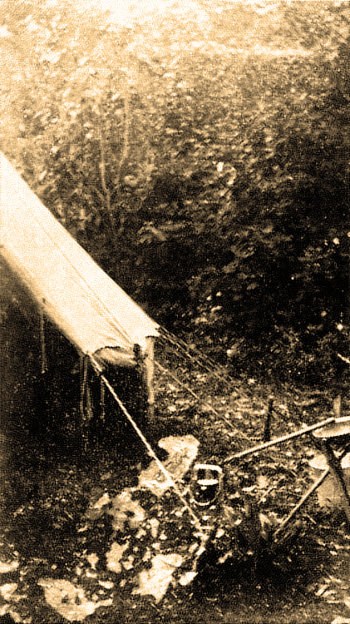 Chief Beebe's Tent in 1924