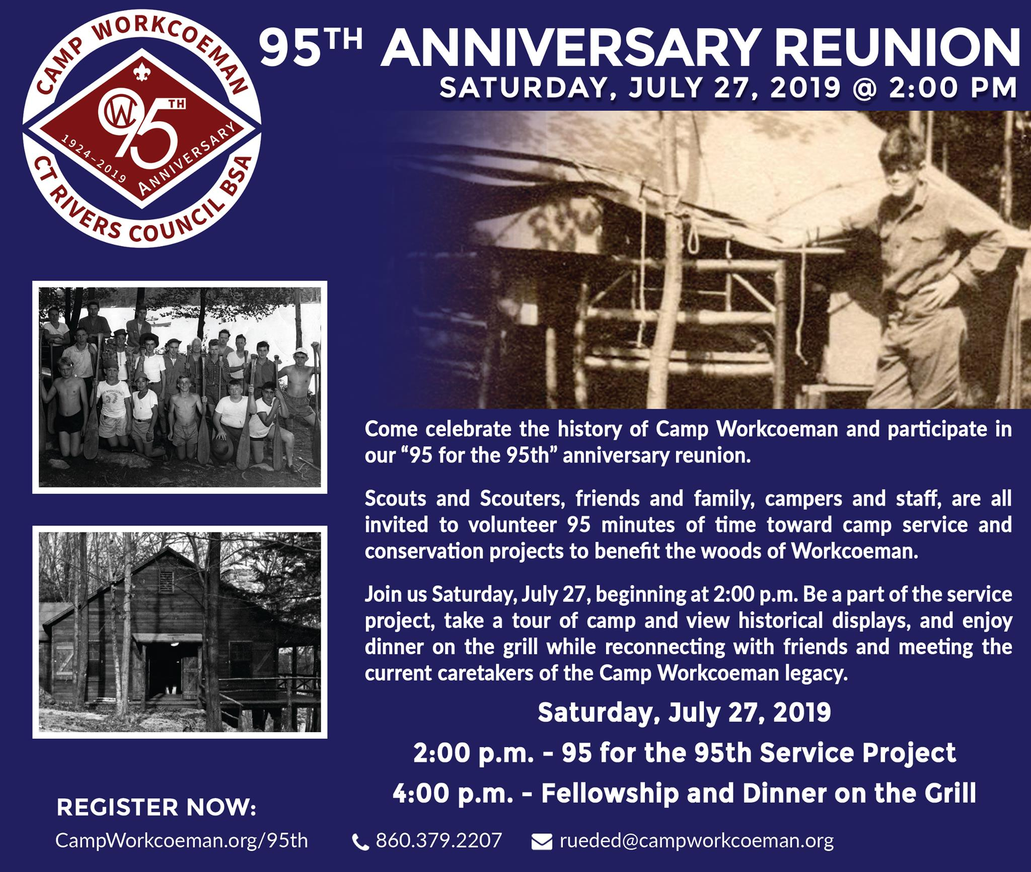 95th Anniversary Reunion Flier